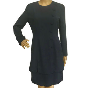 Vintage MariAnna Navy Blue Fitted Career Dress 6
